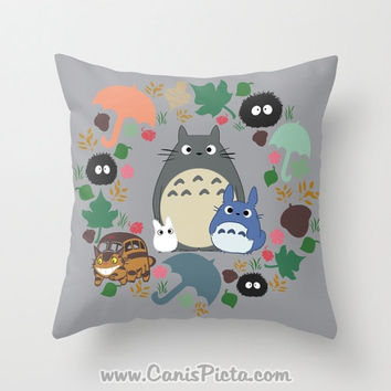 Cute Kawaii Totoro Anime Led Colorful Plush Pillow : Shop Kawaii Pillow on Wanelo