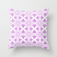 Charisma in Lavender Throw Pillow by Lisa Argyropoulos