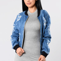 I'm A Rockstar Jacket - Medium Wash