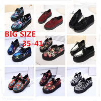 Size Creepers Platform Shoes Woman Flats Shoes Sapatos Mujer Creepers Shoes Black-in Women's Flats from Shoes on Aliexpress.com | Alibaba Group
