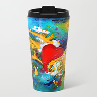 Passion Metal Travel Mug by mariameesterart