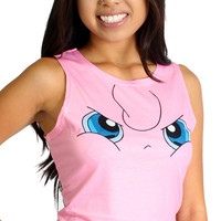 Pokemon Pink Jigglypuff Women's One Size Crop Top