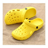 2018 New Solides Women Summer Sandals Womens Croc Sandals Sandalias Couple Summer Hollow Shoes Beach Garden women Nest Shoes