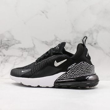 Nike Air Max 270 Black White Crystal Running Shoes - Best Deal Online