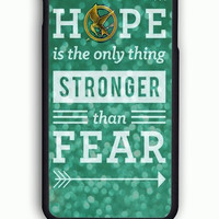 iPhone 6S Case - Hard (PC) Cover with Hunger games hope quotes  Plastic Case Design