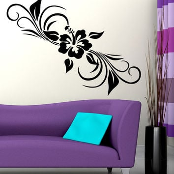 Vinyl Wall Decal Sticker Hibiscus Plant #5330