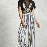 Contemporary Striped Palazzo Pants
