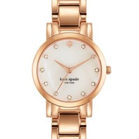 Women's kate spade new york 'gramercy mini' crystal index watch, 24mm - Rose Gold