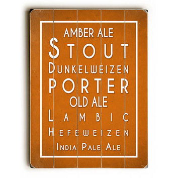 Beers by Lotus Leaf Collection Wood Sign