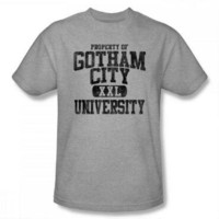 Batman Property of Gotham City Adult Heather Gray T-Shirt |
