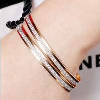 Gold/Silver Bangle Bracelets Girl Jewelry 2 Colors 1 PC Only