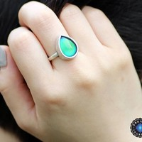 Tear Drop Mood Ring