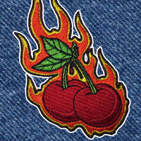 FLAMING CHERRIES PATCH