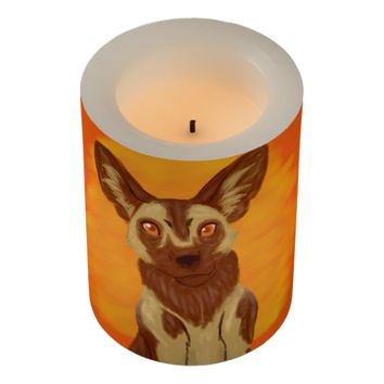 African Wild Dog Flameless Candle