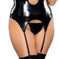 Plus Size Exotic Slut Black Lingerie Set