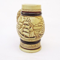 Vintage Handcrafted Avon Mug, Brazil Avon Ship Nautical, 1982, UK Seller