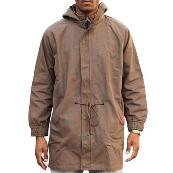Non Compliant Long Jacket in olive