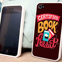 Certified Book Addict for iPhone 5 5C 5S iPhone 4/4S Samsung Galaxy S3 S4 case