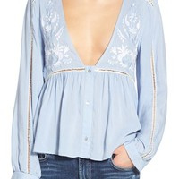 Somedays Lovin 'Moody' Embroidered V-Neck Blouse | Nordstrom