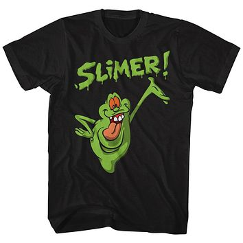 The Real Ghostbusters Tall T-Shirt Slimer Black Tee