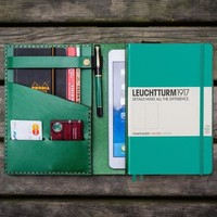 Leather Leuchtturm1917 A5 Notebook Cover - Green