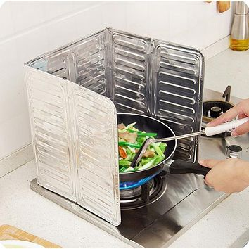 Kitchen Gas Stove Taiwan Baffle Plate Aluminum Foil Insulation Board Insulation Cooking Hot Grease Splash Baffle