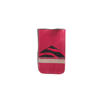 iPhone 5 Leather Case // Red Calf Hair Holographic Gold // Pouch // Geometric // Birthday // Sleeve