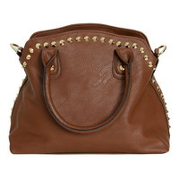 Studded Trim Satchel Bag | Shop Accessories at Wet Seal