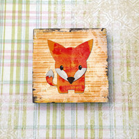 Fox Magnet for Refrigerator Fridge Cubicle Dorm Decor Magnet Board 2 Inches