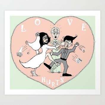 Love Hurts Art Print by Amy Gale