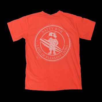 Natty Boh Land of Pleasant Living Surf (Neon Red Orange) / Shirt
