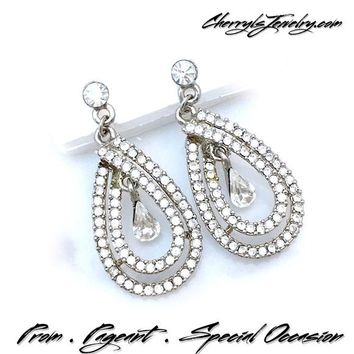 Classic Crystal Special Occasion Earrings