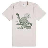 Never Forget Dinosaur T-Shirt-Unisex Natural T-Shirt