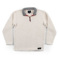 Appalachian Pile Pullover 1/4 Zip in White by Southern Marsh