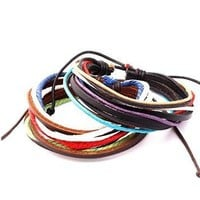 New Arrival Hot Sale Gift Great Deal Awesome Shiny Stylish Strong Character Men Leather Ring Bracelet [6526723459]