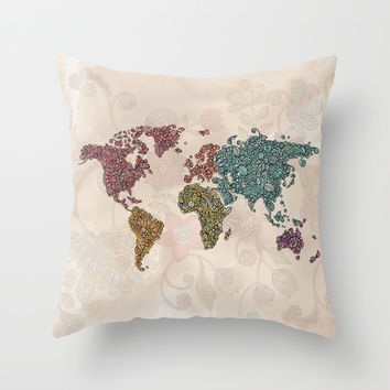 Paisley World Throw Pillow by Valentina Harper