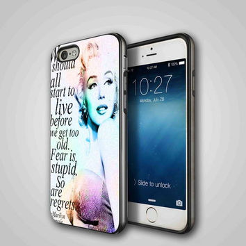 marylin monroe, iPhone 4/4S, 5/5S, 5C Series Hard Plastic Case
