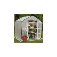 Flowerhouse Springhouse 6 Ft. W x 6 Ft. D Polyethylene Greenhouse