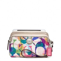 Coach :: New Poppy Stamped c Double Zip Wristlet
