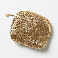 Pebbled Metallic Pouch