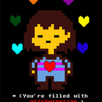 "Undertale Frisk ""You Are Filled With Determination"" T-Shirt"