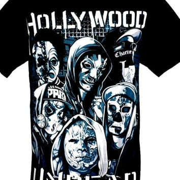 Hollywood Undead Rock Band Metal Picture Graphic T Shirt Size M L Black