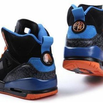 Hot Air Jordan 3.5 Spizike Suede Women Shoes Black Orange