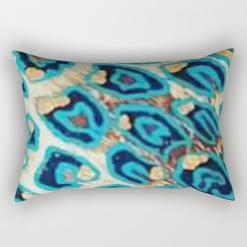 BLUE LEOPARD Rectangular Pillow by violajohnsonriley