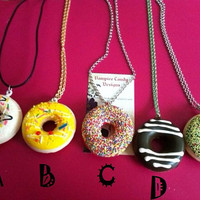 "Vampire Candy - ""Mmm... Donut"" Necklace (choice of ONE only)"