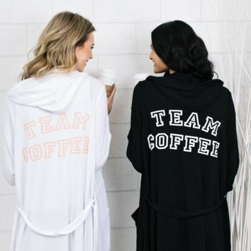 Team Coffee French Terry Lounge Robe