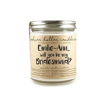 Bridesmaid Proposal - Personalized 8oz Soy Candle [V3]