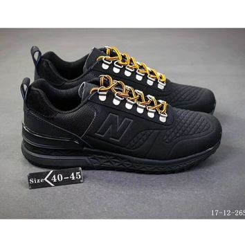 New Balance 574 limited edition tide brand casual shoes F-SSRS-CJZX Black