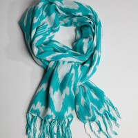 Ikat Wrap-Turquoise | Sir Alistair Rai