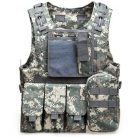 Outdoort Multi Pockets Military Tactical Camouflage Vest